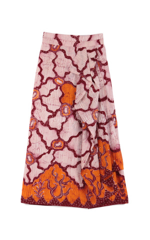 Batik Skirt Orange by 2pose By Monika Jufry