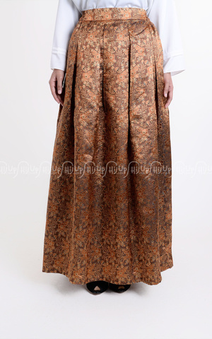 Kloak Songket Skirt With Furing 2 by Shafa Designs