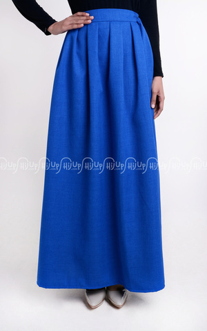 Blue Pleated Skirt by KIMI