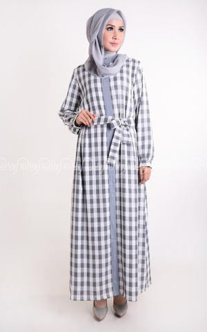 Dress Grey Plaid by Anemone By Hannie Hananto
