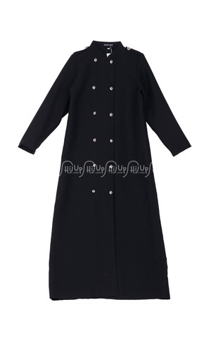 Gamis Black Tweed Coat by Anemone By Hannie Hananto