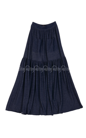 Denim Flare Skirt by Indij